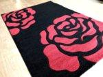 релефен килим съни   643 черно червено